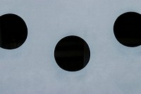 holes, cavity, surface, black, white, white surface