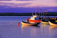 Harbour at sunset, Mill Cove, Nova Scotia, Canada