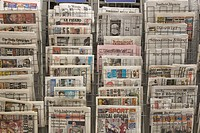 Broadsheet, Close_Up, Large Group Of Objects, News Stand