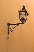 lamp, wrought iron, iron, bracket, holder, fixture