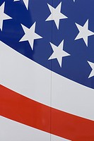 Blue, Full Frame, Flag, Close-Up, American Flag (thumbnail)