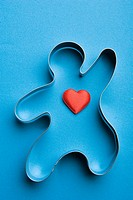 Close_Up, Colored Background, Heart Shape, Indoors