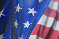 Blue, Fold, Fabric, Close_Up, American Flag