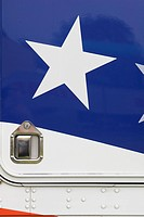 Blue, Lock, Knob, Close-Up, American Flag (thumbnail)