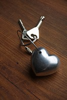 Close_Up, Heart Shape, Indoors, Key Ring