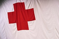 Red, white, bold, cross, detail, pattern (thumbnail)