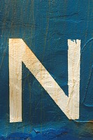 Blue, Letter N, Close_Up, Capital Letter, Alphabet