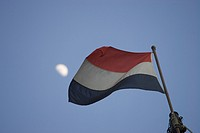 Blue, Clear Sky, Day, Dutch Flag, Flag