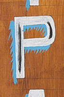 Brown, Letter P, Close_Up, Capital Letter, Alphabet