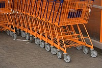 Cart, Close_Up, Floor, Full Frame, Group Of Objects