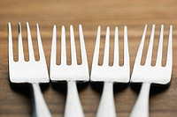 Close_Up, Fork, Four Objects, In A Row