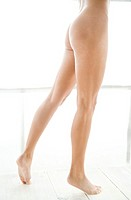 legs of nude woman