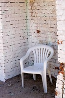 Brick, Brick Wall, Chair, Corner, Exterior