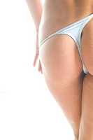 woman takiing of g_string