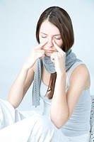 Young woman with sinuses pain (thumbnail)