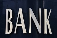 Close-Up, Bank, Business, Black, Bank Sign, Alphabetic (thumbnail)