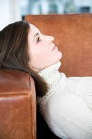 Woman lying on sofa (thumbnail)