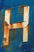 Blue, Damaged, Close_Up, Capital Letter, Alphabet