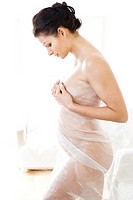 nude pregnant woman