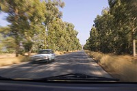 Blurred Motion, Car, Clear Sky, Day