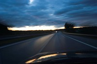 Car, Highway, Darkness, Clouds, Automobile