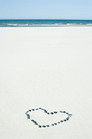heart on beach