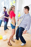 friends dancing at party