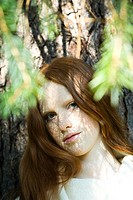 Young ginger woman portrait
