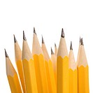 Close up of group of sharp pencils
