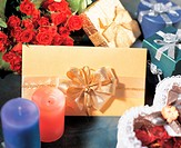 Flower, gift, rose, love, heart, candle, film (thumbnail)