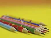 writing instrument, multi colored pencil, school stationery, stationery, business supplies, pencil, artifact