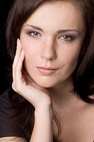 portrait of beauty brunette