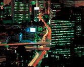 Architecture, nightscape, scenic, road, building, cityview (thumbnail)