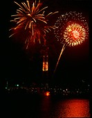 Landscape, fireworks, scenery, festival, event, city, night (thumbnail)