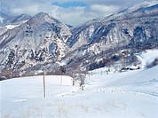 mountain, scenery, winter, season, snow, cold, nature