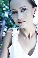 portrait of a woman in park