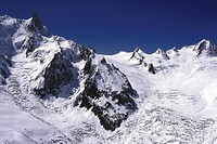 High, mountain, Landscape, Rock, Snow, Blue, sky (thumbnail)