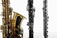 Saxophone, clarinet and flute