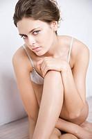 Beautiful woman in underwear