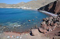 Red beach formed due to the red volcanic stones in that part of the island. Red beach, Santorini, Greece, Europe