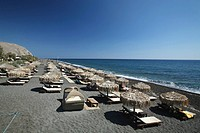 Perissa is one of Santorini's best beaches, situated near the village of Emporio. It is renowned for it's dark sand and endless beach. Santorini, Cycl...