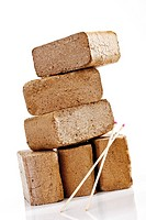 Wood briquettes, close_up