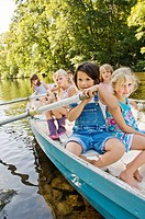 Children on a boat