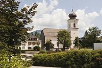 Austria, Salzkammergut, Strobl, St. Sigismund Parish Church