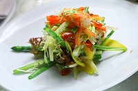 Vegetarian salad with crab meat
