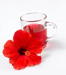 Hibiscus flower tea and hibiscus flower