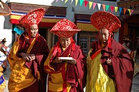 Senior monks at a festival Lama Yuru, Ladakh, India