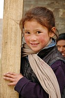 Young girl at school Chemre, Ladakh, India