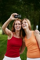 teenagers, photographing, friends, laughing, portr