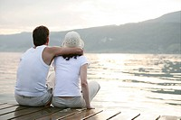 couple, desire, together, bright, love, lake, port